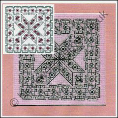 CH0123 - Little Blackwork Stars - 4.00 GBP