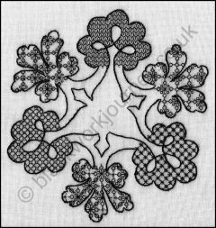 CH0307 - Blackwork Royal - 4.50 GBP