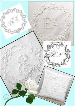 PR0036 - Whitework Ring Pillows - 5.00 GBP
